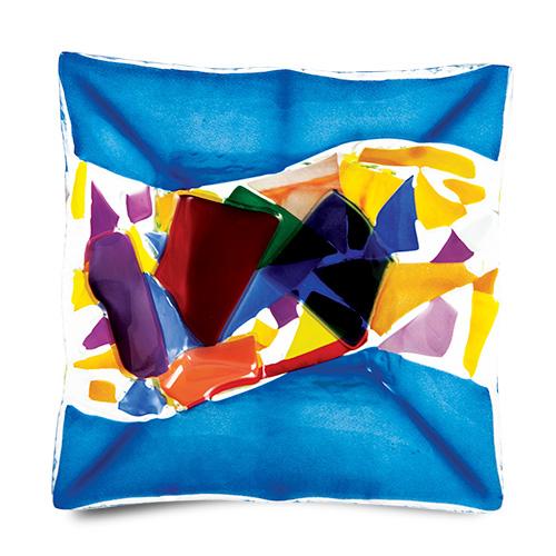Blue Maze Square Plate Malta,Glass Plates, Dishes & Bowls Malta, Glass Plates, Dishes & Bowls, Mdina Glass