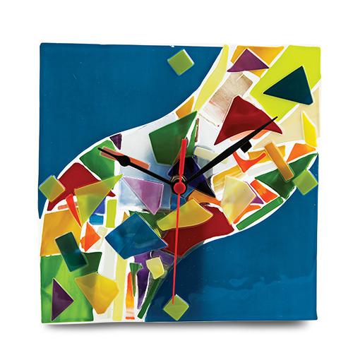 Blue  Maze Clock Malta,Glass Clocks Malta, Glass Clocks, Mdina Glass