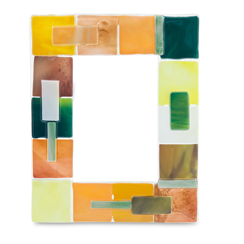Yellow & Green Textured Frame Malta,Glass Picture Frames Malta, Glass Picture Frames, Mdina Glass