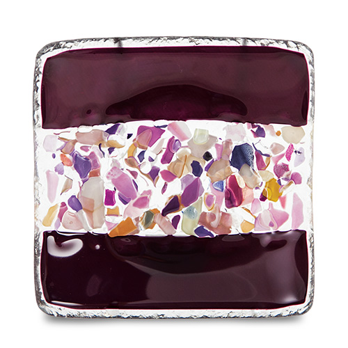 Purple With Mini Multi Square Dish Malta,Glass Plates, Dishes & Bowls Malta, Glass Plates, Dishes & Bowls, Mdina Glass