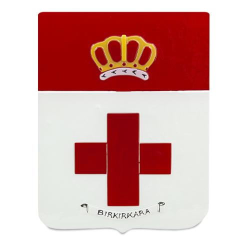 Town Crest: Birkirkara Malta,Glass Town Crests Malta, Glass Town Crests, Mdina Glass