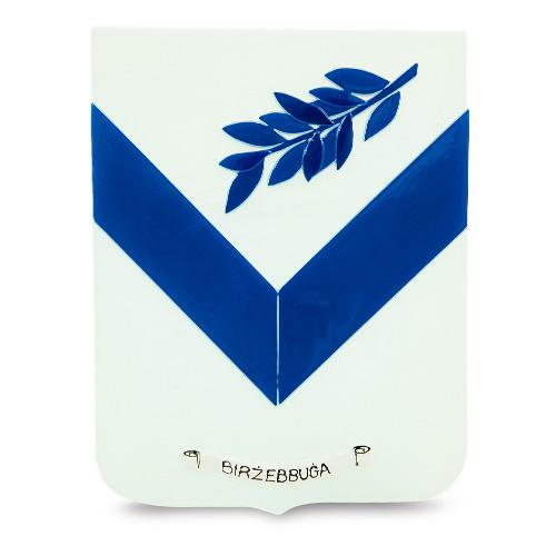 Town Crest: Birzebbuga Malta,Glass Town Crests Malta, Glass Town Crests, Mdina Glass