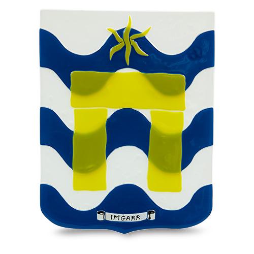 Town Crest: Mgarr Malta,Glass Town Crests Malta, Glass Town Crests, Mdina Glass