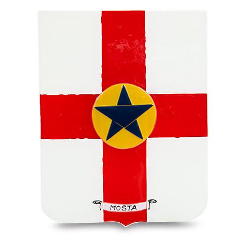 Town Crest: Mosta Malta,Glass Town Crests Malta, Glass Town Crests, Mdina Glass