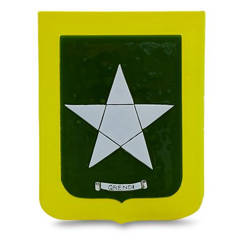 Town Crest: Qrendi Malta,Glass Town Crests Malta, Glass Town Crests, Mdina Glass