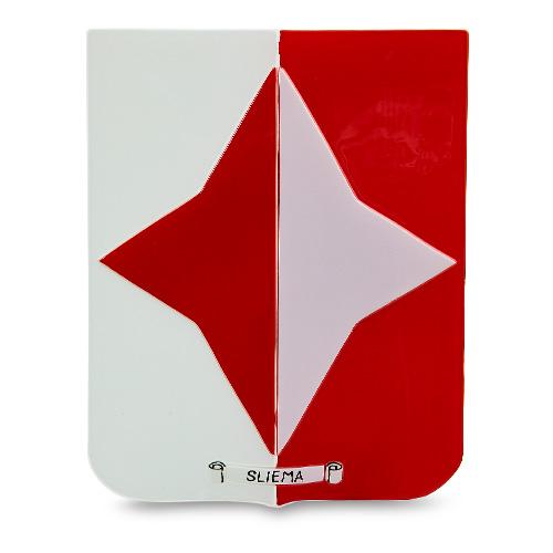 Town Crest: Sliema Malta,Glass Town Crests Malta, Glass Town Crests, Mdina Glass