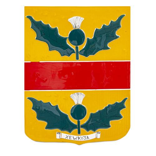 Town Crest: Xewkija Malta,Glass Town Crests Malta, Glass Town Crests, Mdina Glass