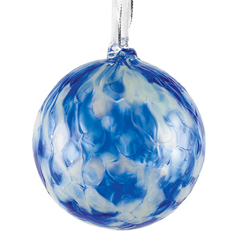 Candy Blue Small Round Bauble Malta,Glass Personalised Baubles Malta, Glass Personalised Baubles, Mdina Glass