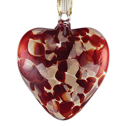 Candy Red Heart Bauble Malta,Glass Personalised Baubles Malta, Glass Personalised Baubles, Mdina Glass