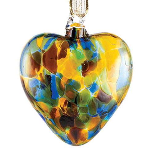 Sparkle Blue Heart Bauble Malta,Glass Personalised Baubles Malta, Glass Personalised Baubles, Mdina Glass