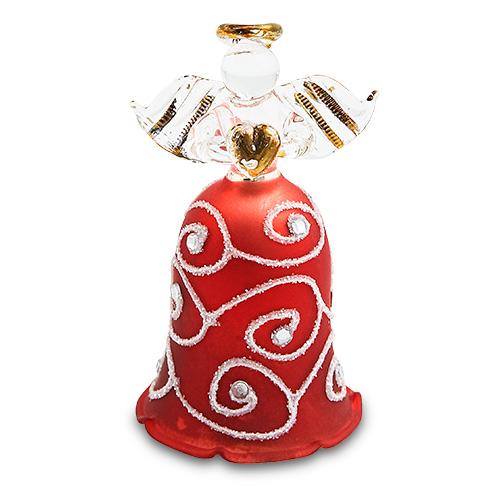 Bell Red Angel Malta,Glass Decorative Angels Malta, Glass Decorative Angels, Mdina Glass