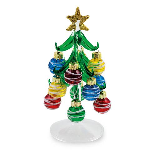 Malta,  Malta,Glass Christmas Malta,Glass Christmas, Small Christmas Tree / Baubles with Swirls Malta, Mdina Glass Malta